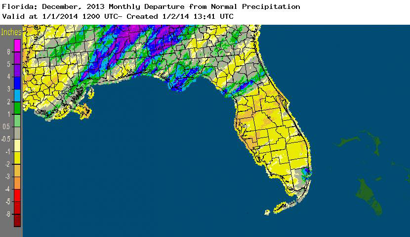 Rainfall graphic