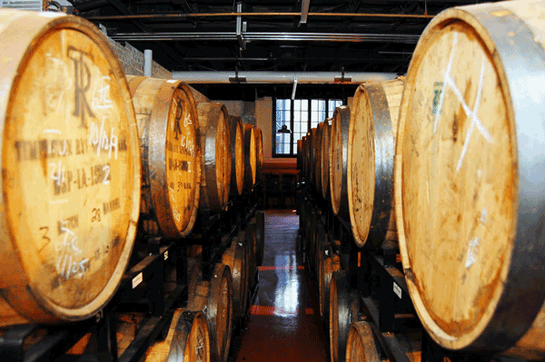 Barrel room.